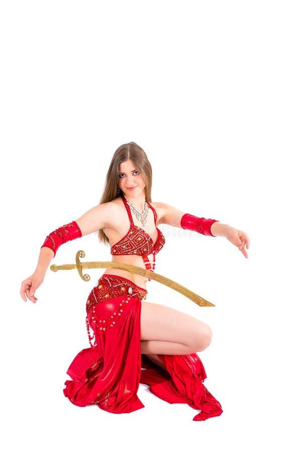 Dança de espada árabe fotografia de stock