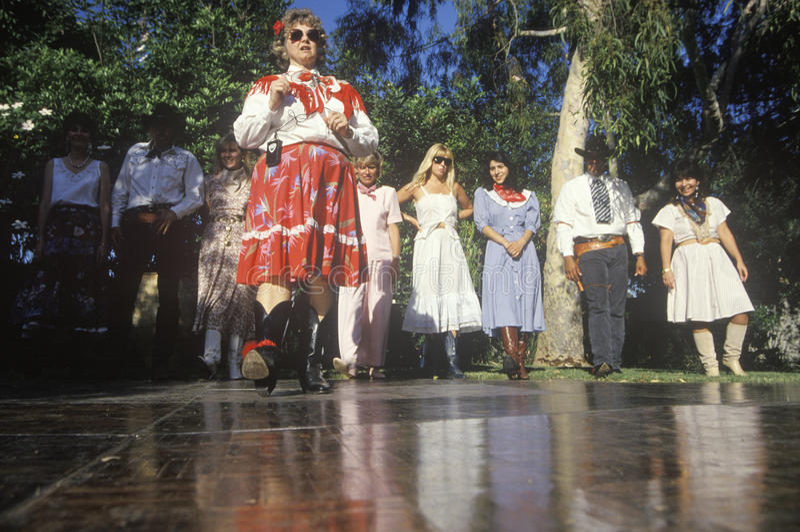 Dança de etapa de Texas Two, Los Angeles, CA fotografia de stock