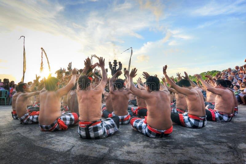 Dança de Kecak bali fotos de stock