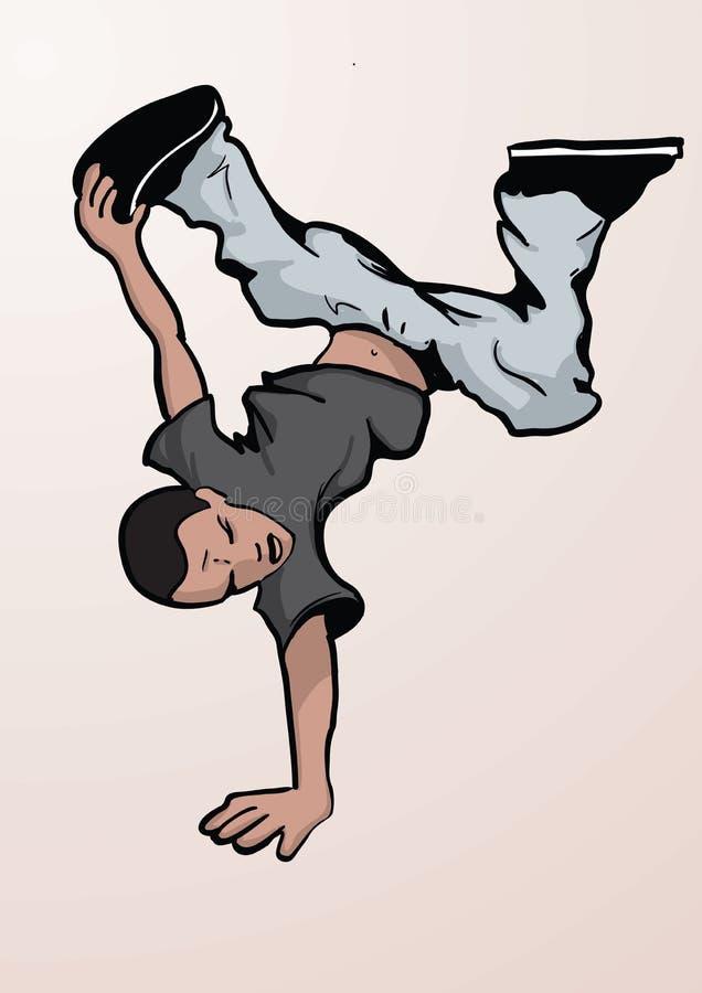 Dança de ruptura ilustração do vetor