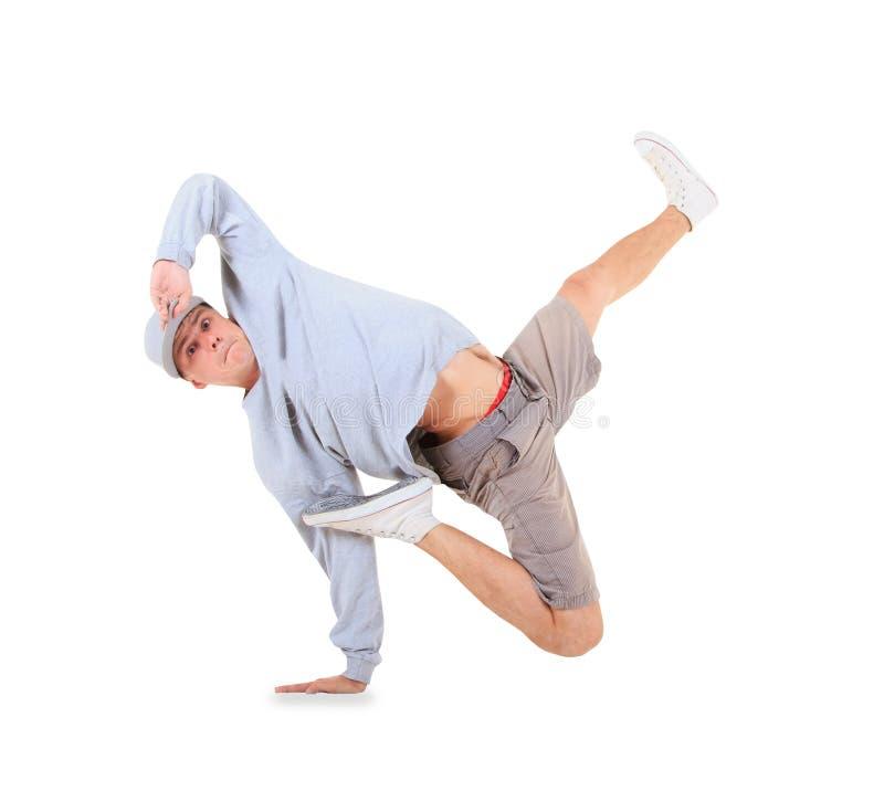 Dança de ruptura da dança do adolescente na ação imagens de stock royalty free