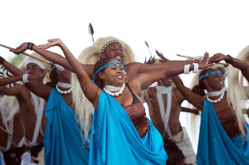 Dança de Rwanda imagem de stock royalty free
