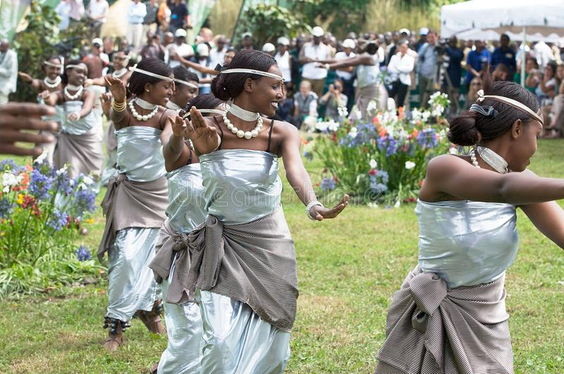 Dança de Rwanda imagens de stock
