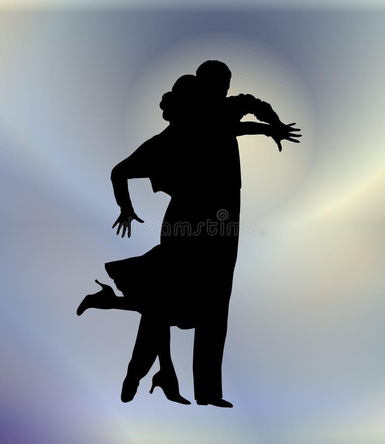 Dança de salão de baile 8 ilustração stock
