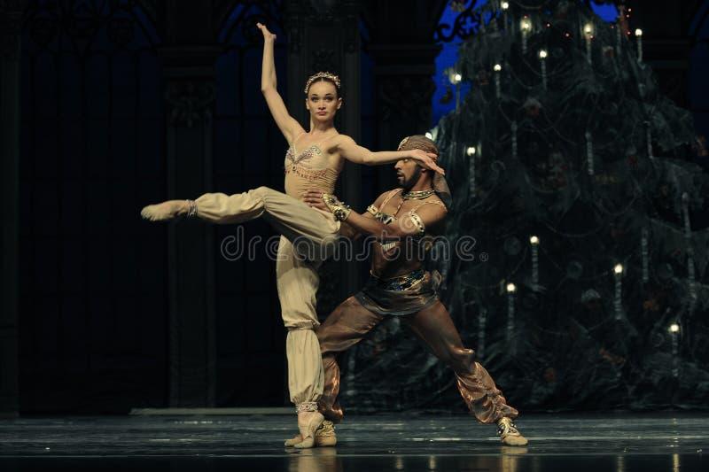 Dança de Shiva o segundo do ato reino dos doces do campo em segundo - a quebra-nozes do bailado foto de stock royalty free