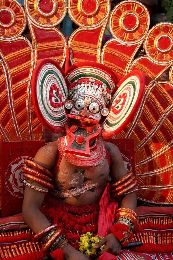 Dança de Theyyam fotografia de stock