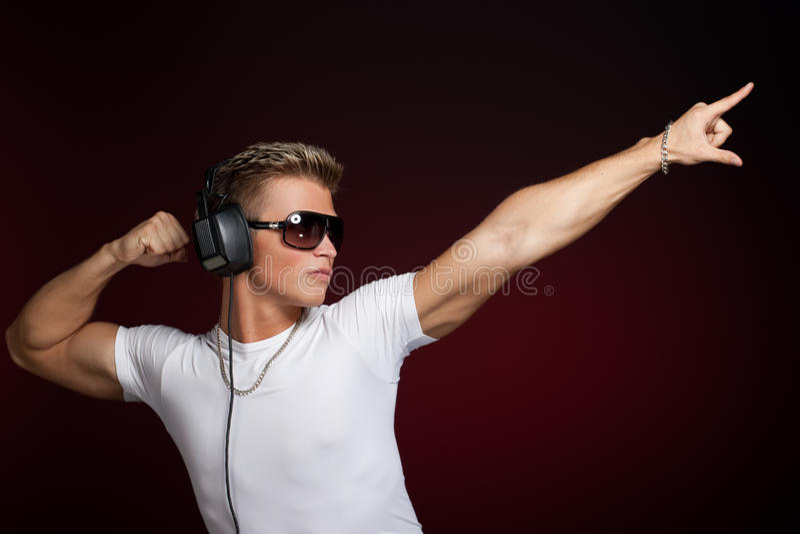 Dança DJ fotografia de stock royalty free