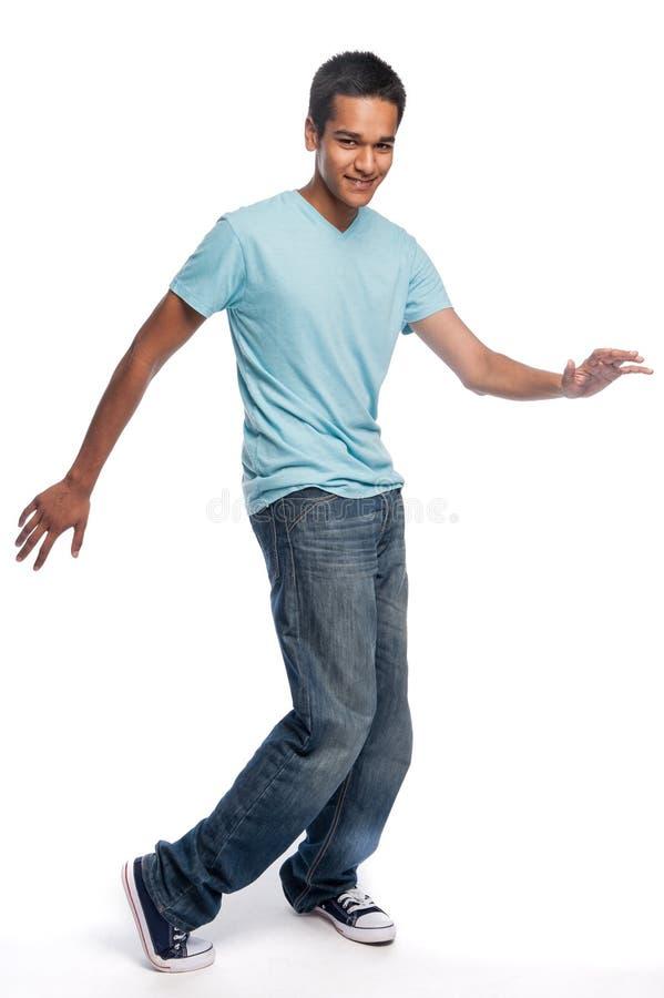 Dança do adolescente da raça misturada fotos de stock