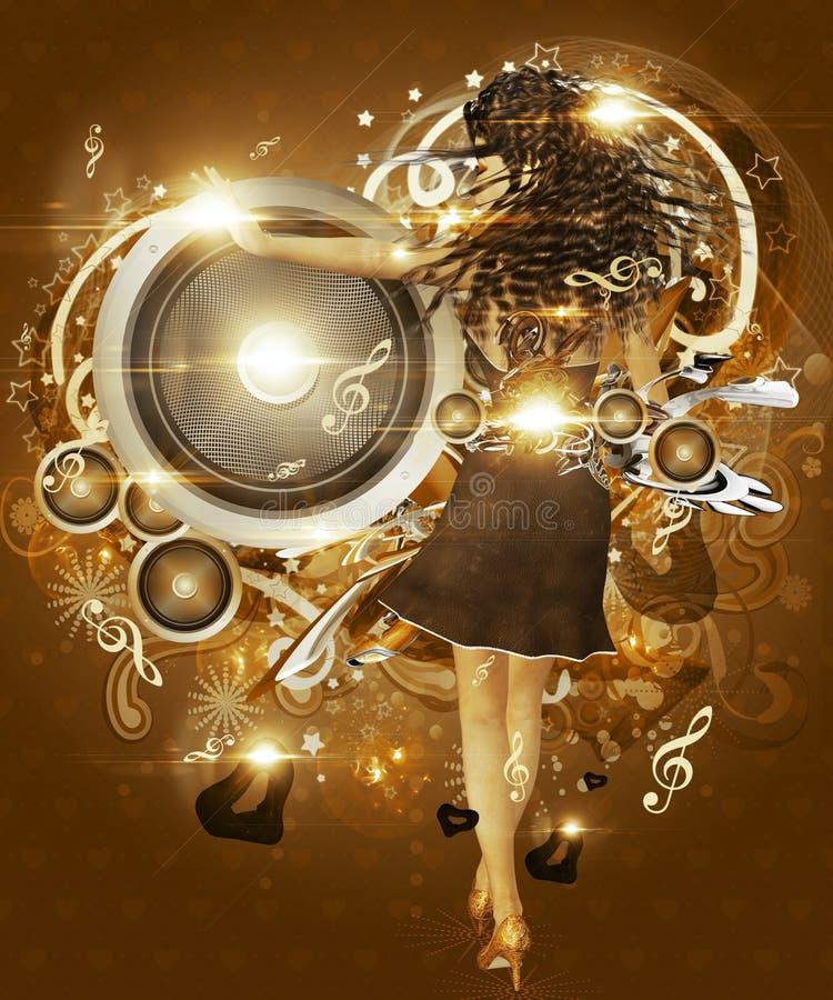 Dança do amor ilustração royalty free