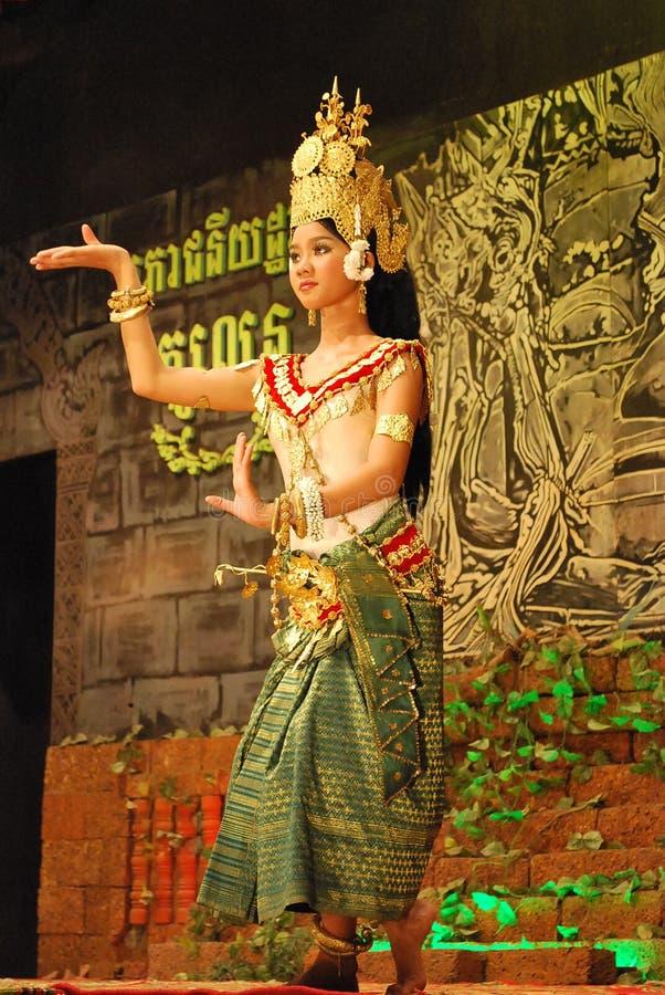 Dança do apsara do Khmer fotografia de stock
