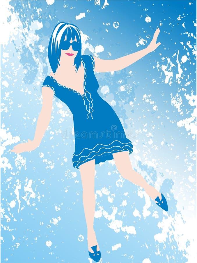 Dança do azul de céu ilustração royalty free