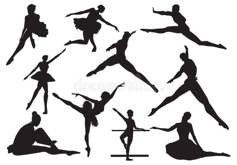 Dança do bailado ilustração stock