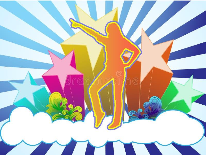 Dança do céu ilustração stock