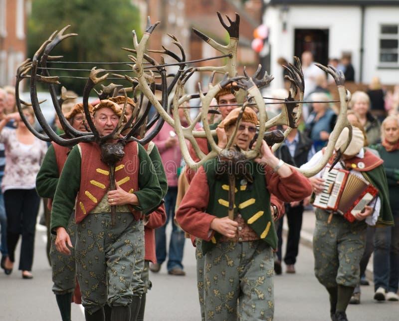 Dança do chifre de Bromley dos abades fotos de stock