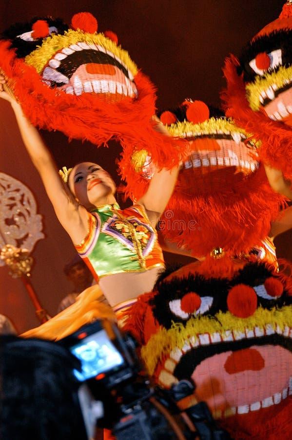 Dança do chinês fotografia de stock