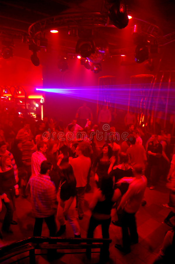 Dança do clube de noite do disco foto de stock