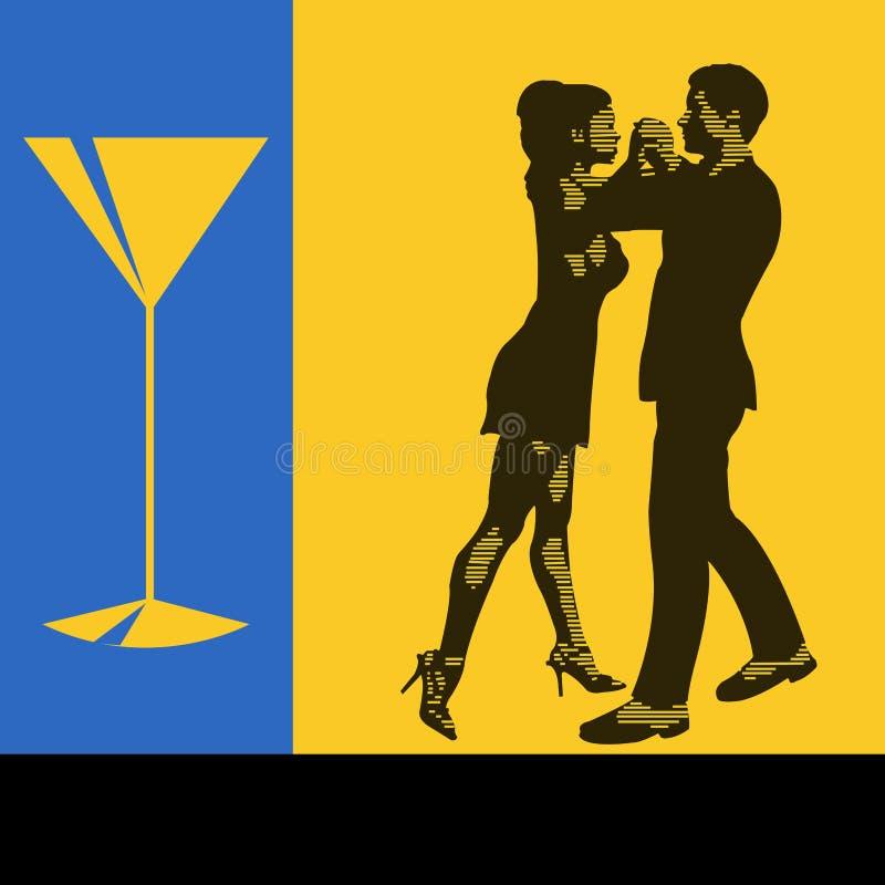 Dança do cocktail ilustração stock