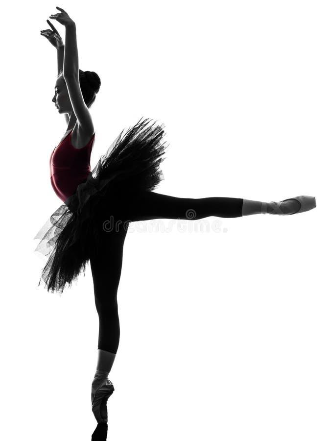Dança do dançarino de bailado da bailarina da mulher nova fotos de stock