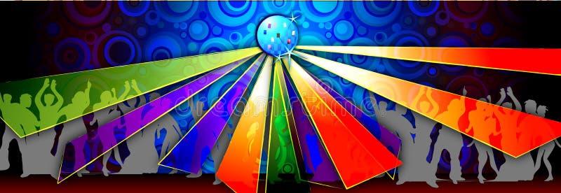 Dança do disco ilustração royalty free