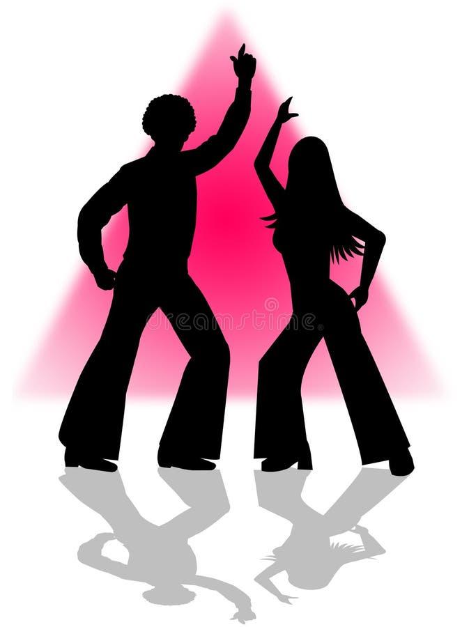 Dança do disco ilustração do vetor