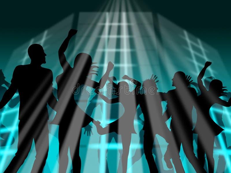 A dança do disco indica o dançarino Dance And Discotheque ilustração royalty free