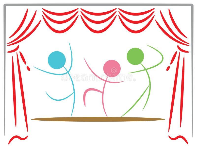 Dança do estágio ilustração stock