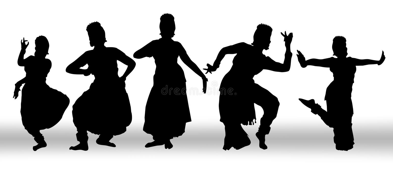 Dança do grupo ilustração royalty free