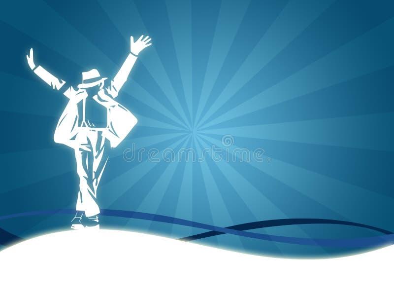 Dança do homem ilustração royalty free