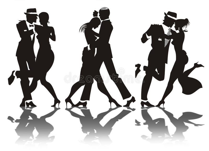 Dança do homem e da mulher ilustração do vetor