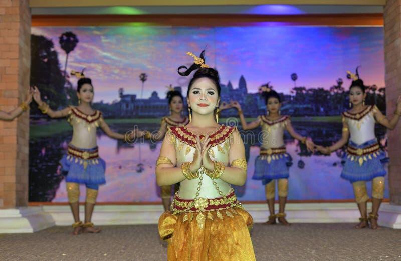 Dança do Khmer fotografia de stock