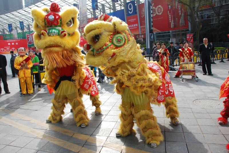 Dança do leão imagem de stock royalty free