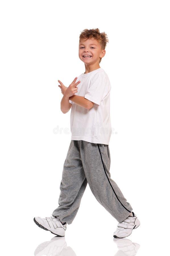 Dança do menino foto de stock royalty free