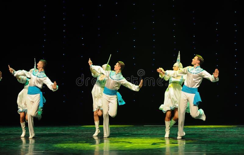 A dança do mundo da Áustria nacional da dança- do russo foto de stock