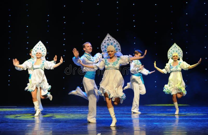 A dança do mundo da Áustria nacional da dança- do russo fotos de stock royalty free