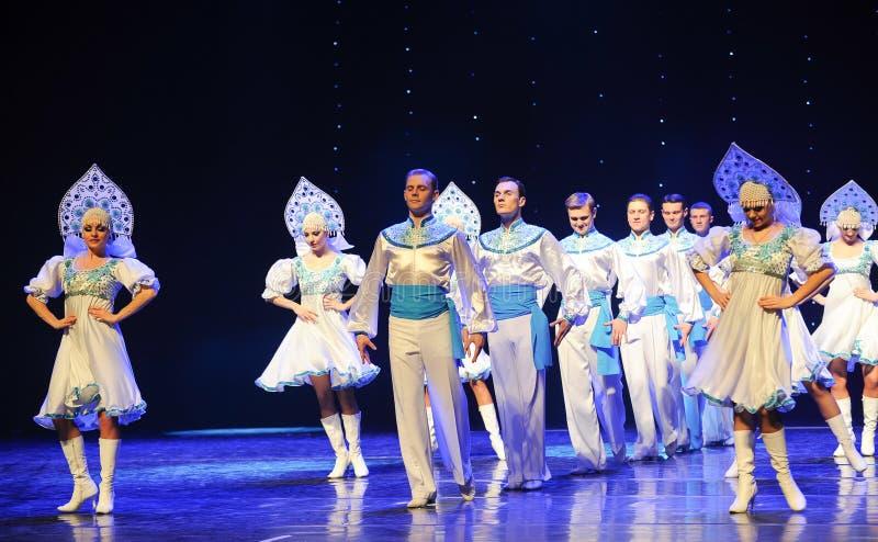 A dança do mundo da Áustria nacional do traje- do russo fotos de stock