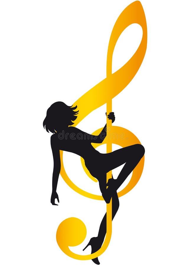 Dança do regaço ilustração stock