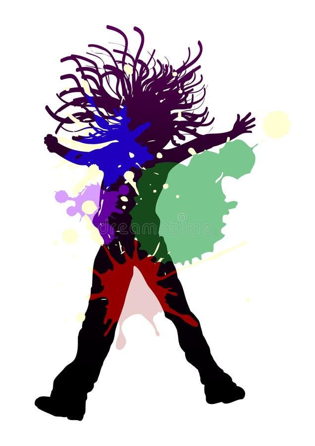 Dança do respingo ilustração do vetor