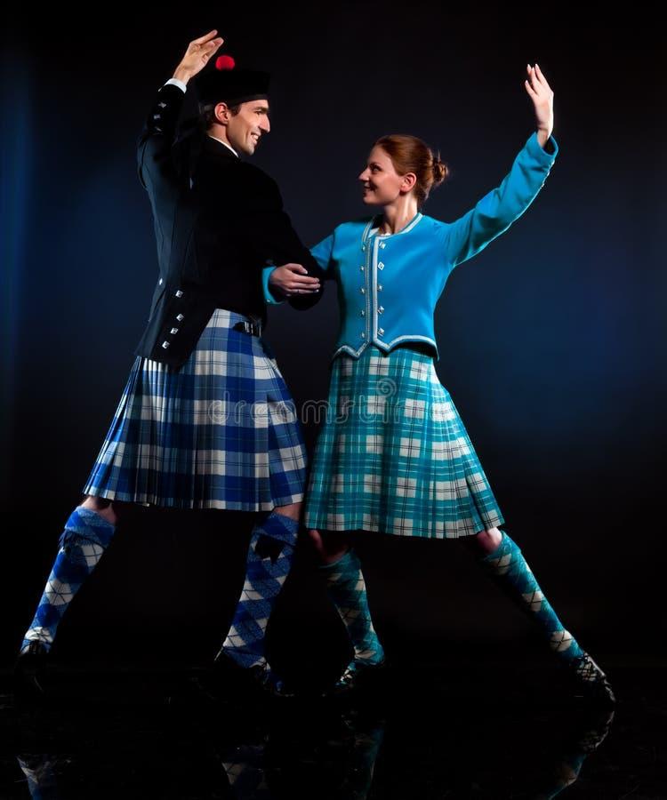 Dança do Scottish foto de stock