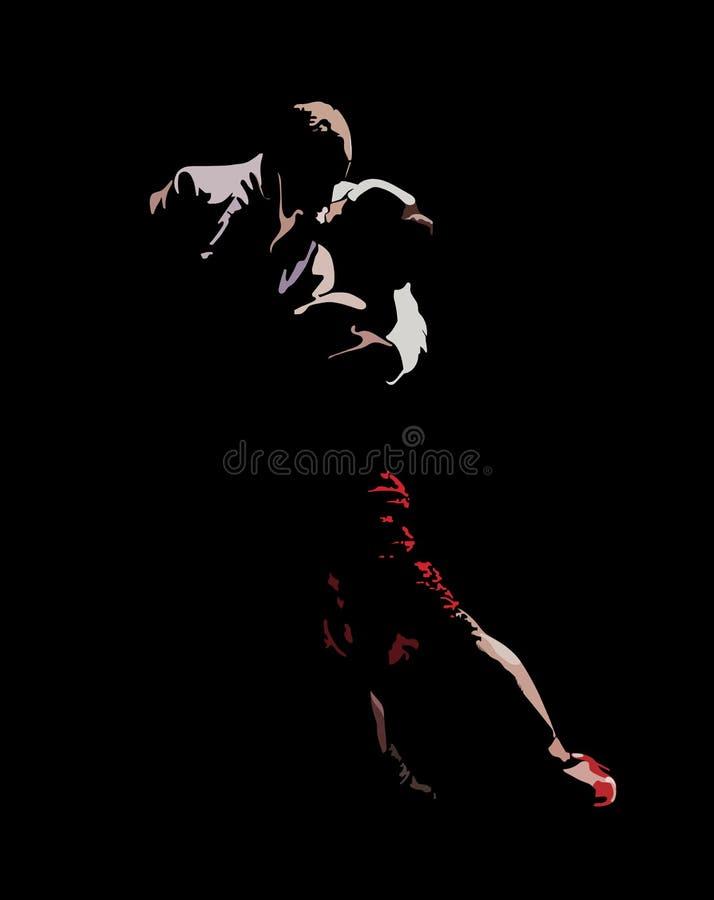 Dança do tango da paixão ilustração stock