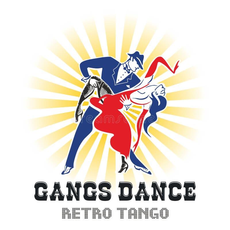 Dança do tango dos grupos ilustração royalty free