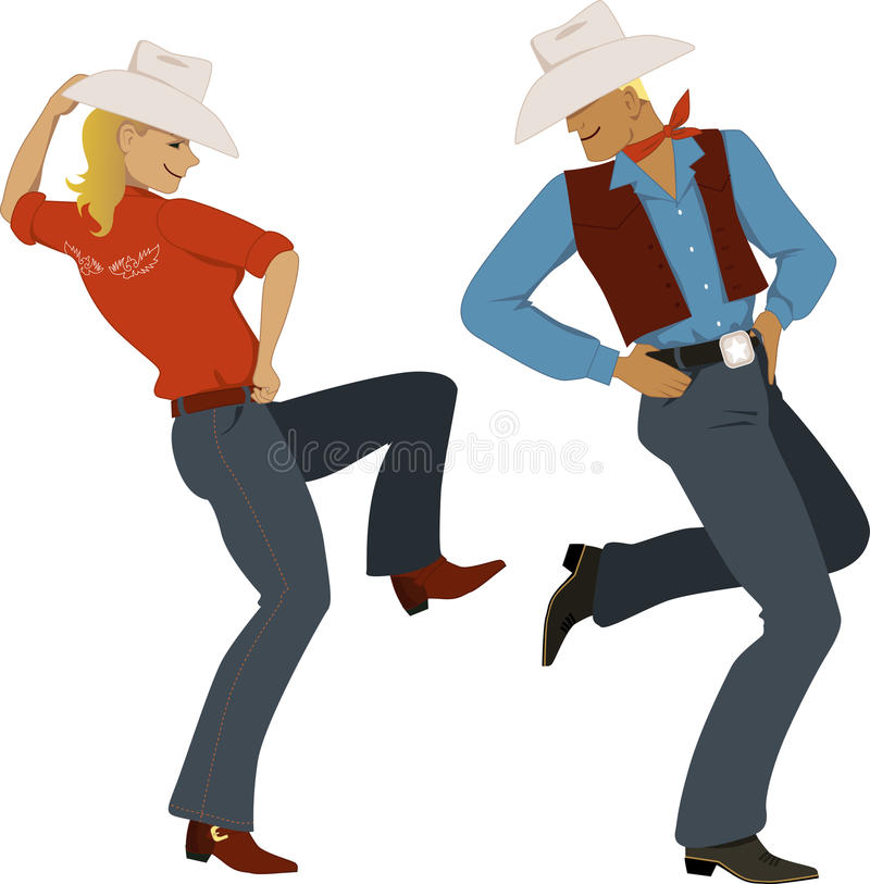 Dança do vaqueiro ilustração do vetor