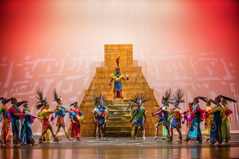 Dança dos astecas foto de stock royalty free