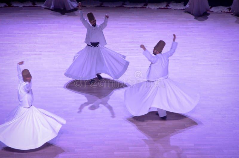 Dança dos dervixes de Mevlana fotos de stock