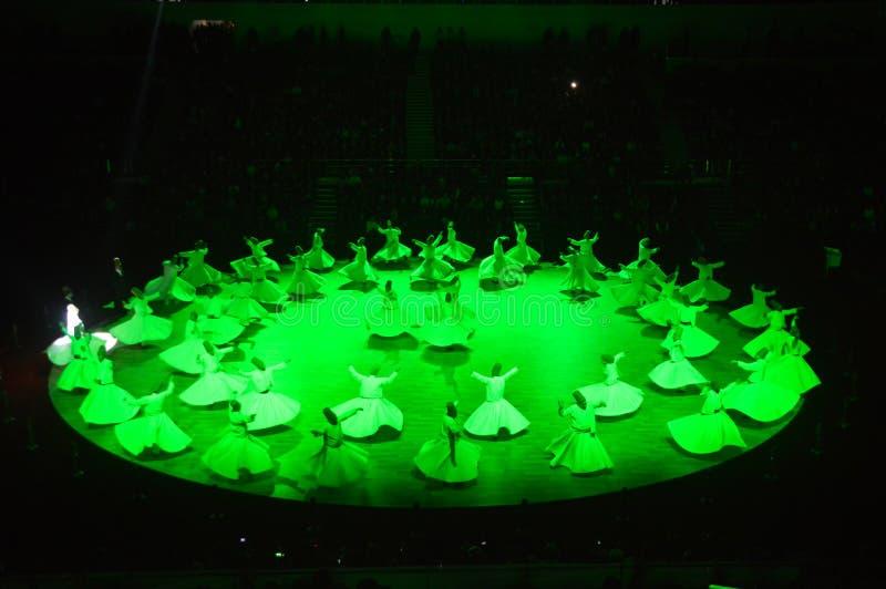 Dança dos dervixes de Mevlana imagem de stock