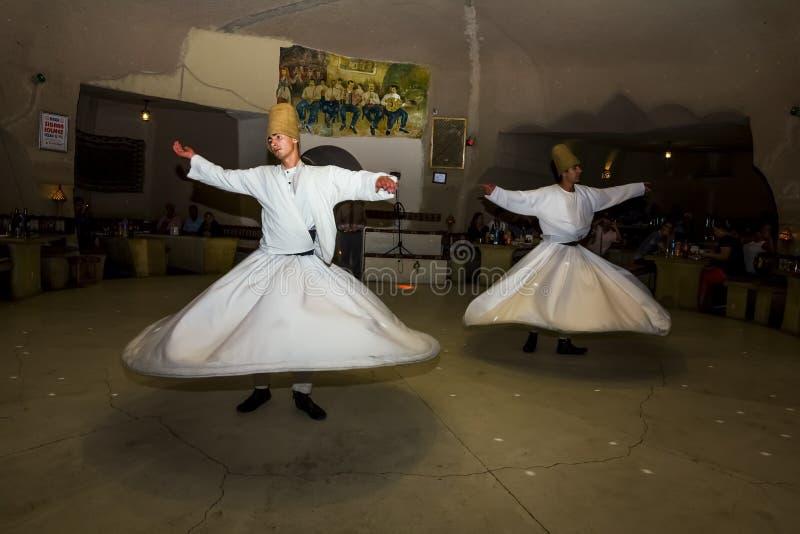 Dança dos dervixes de Sufi fotografia de stock