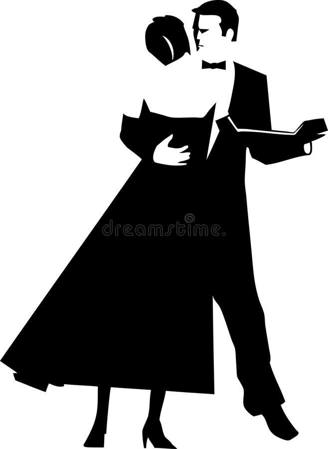 Dança dos pares ilustração stock