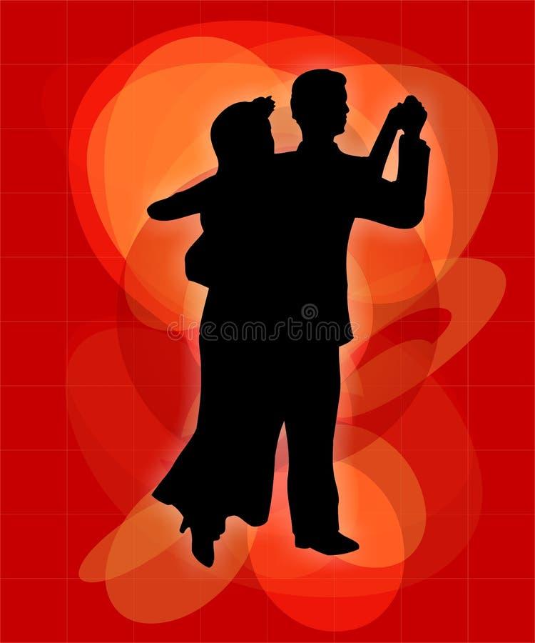 Dança dos pares ilustração royalty free