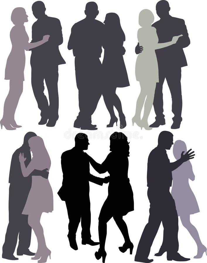 Dança dos pares ilustração do vetor