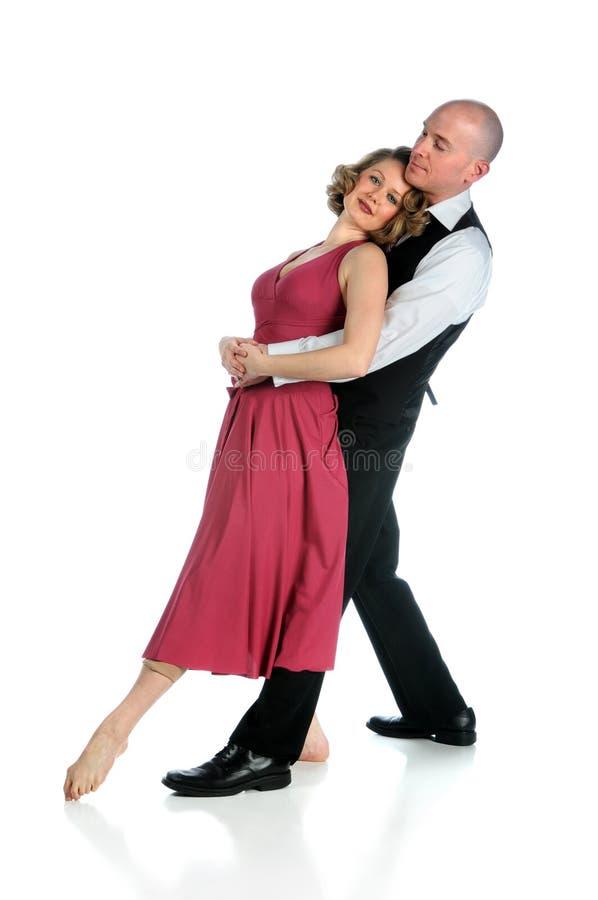 Dança dos pares sobre o fundo branco foto de stock royalty free