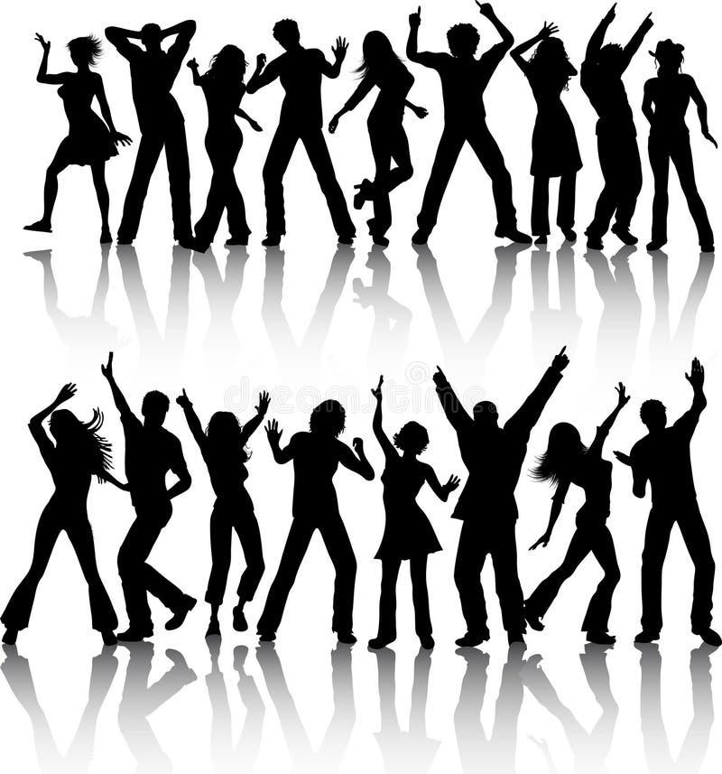 Dança dos povos ilustração do vetor